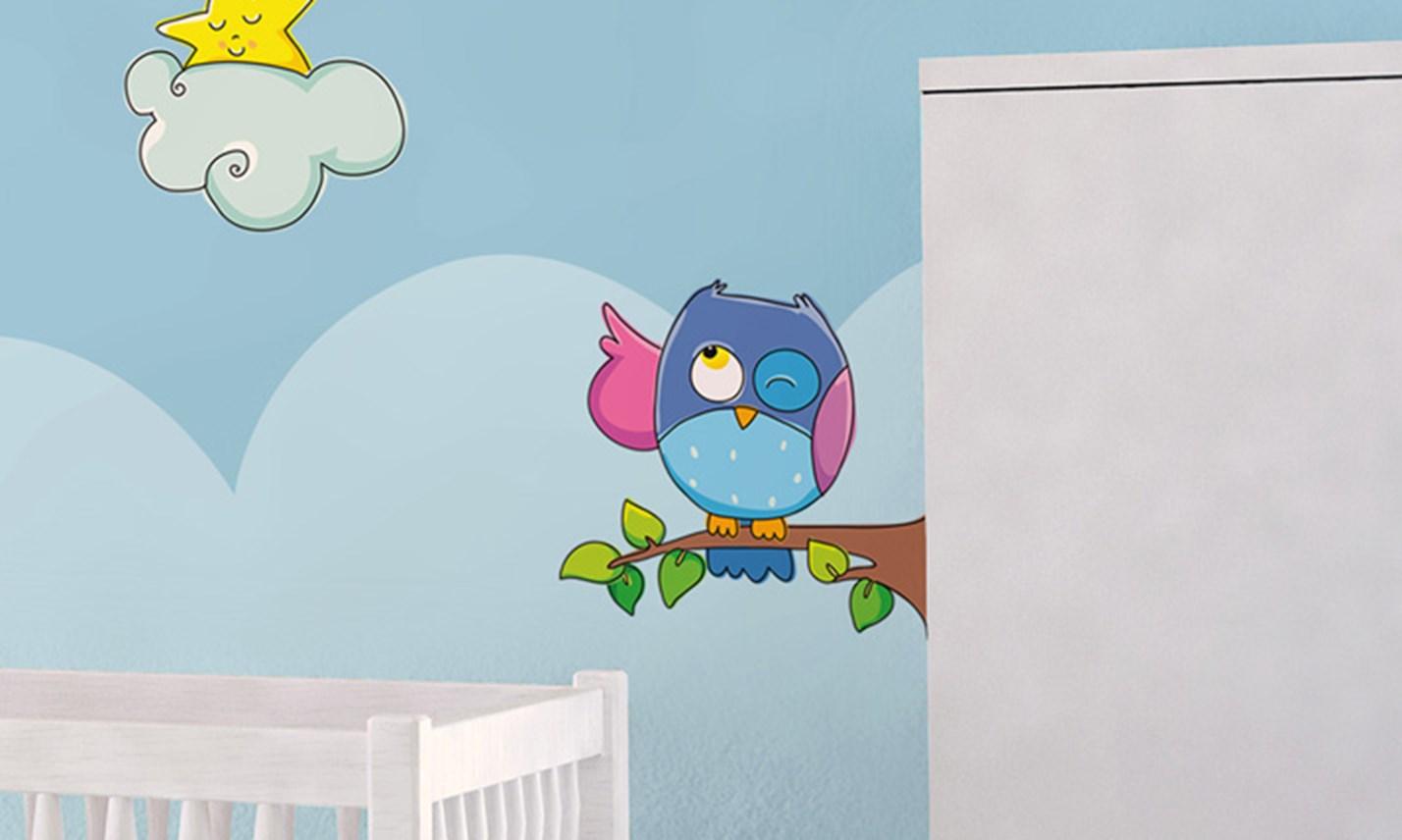 Stickers murali bambini cameretta sogni d 39 oro leostickers - Camerette gioco per bambini ...